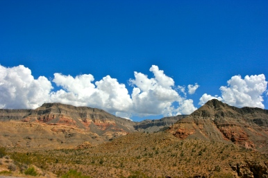 Image of canyons and clouds
