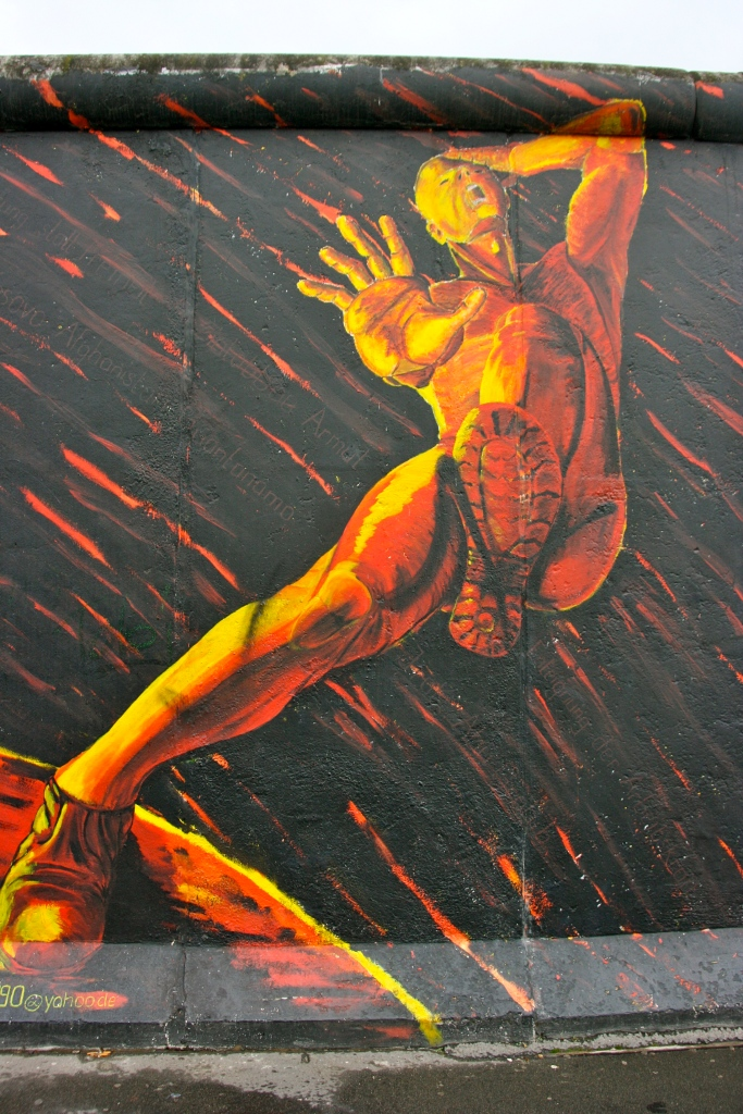 Man in Anguish Berlin Wall
