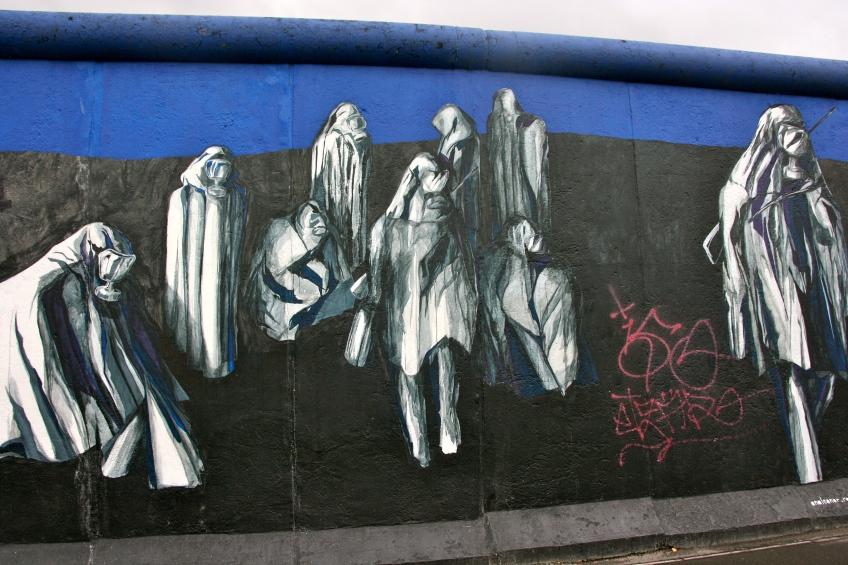 Gas Mask Graffiti Berlin Wall