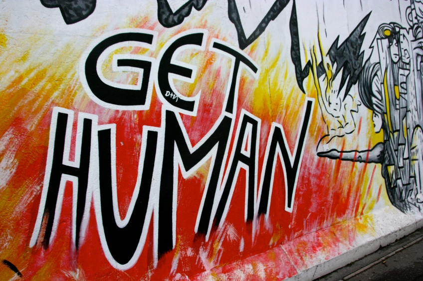 Get Human Graffiti Berlin Wall