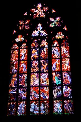 Stained Glass St. Vitas Prague