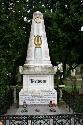 Beethoven's Grave, Zentralfriedhof, Vienna, Austria