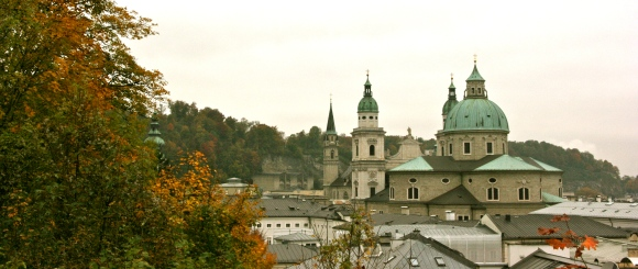 Salzburg, Austria, Fall, Domes, Cathedral,