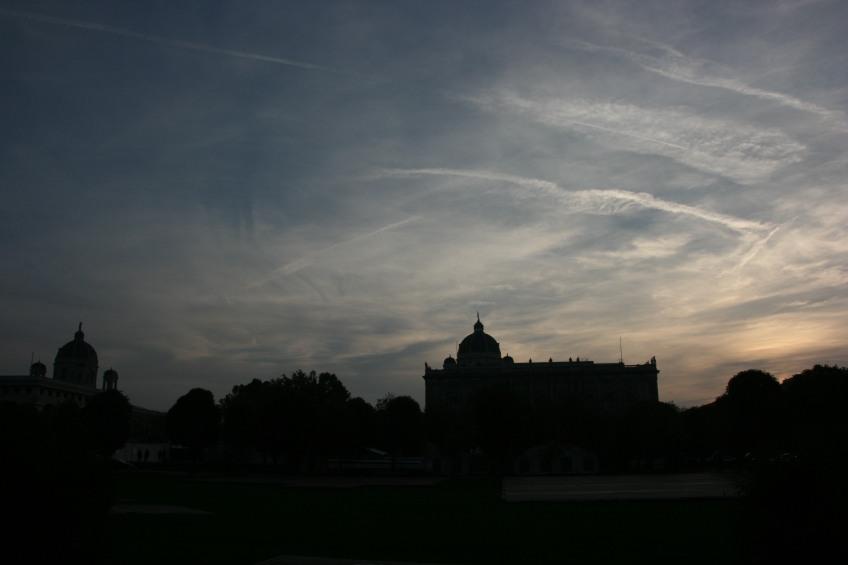 Vienna Skyline, Austria, Dusk,