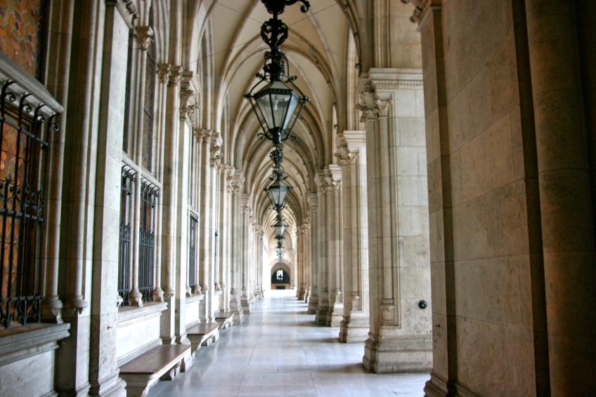 Architecture, Vienna, Austria, Hallway
