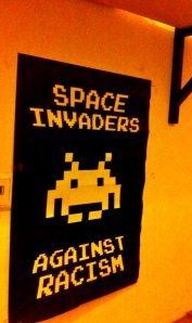 Wall Art, Space Invaders Against Racism, Vienna, Austria