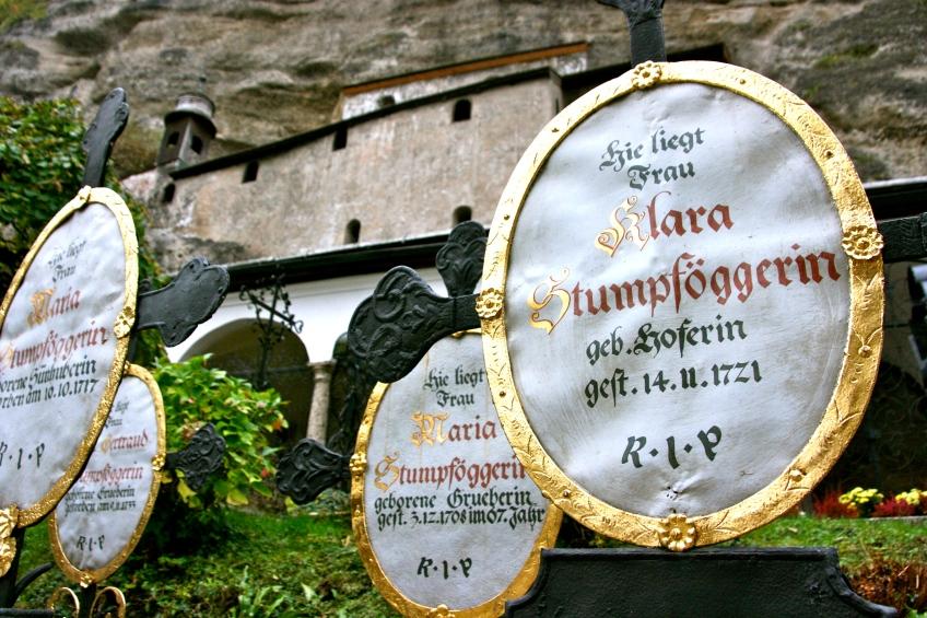 St. Peter's Cemetery, Salzburg, Austria, Crypt, Grave