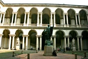 Palazzo Berera, Statues, Pinacoteca di Berera, Shadows, Light, Milano, Italy
