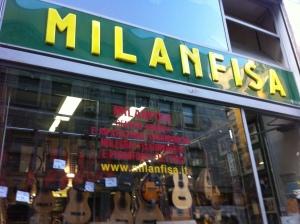 Milanfisa Music Store, Milan, Italy, Music, Guitars, Instruments
