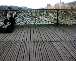 Paris Accordian Locks Bridge