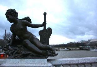 Paris Angel Bridge Statue