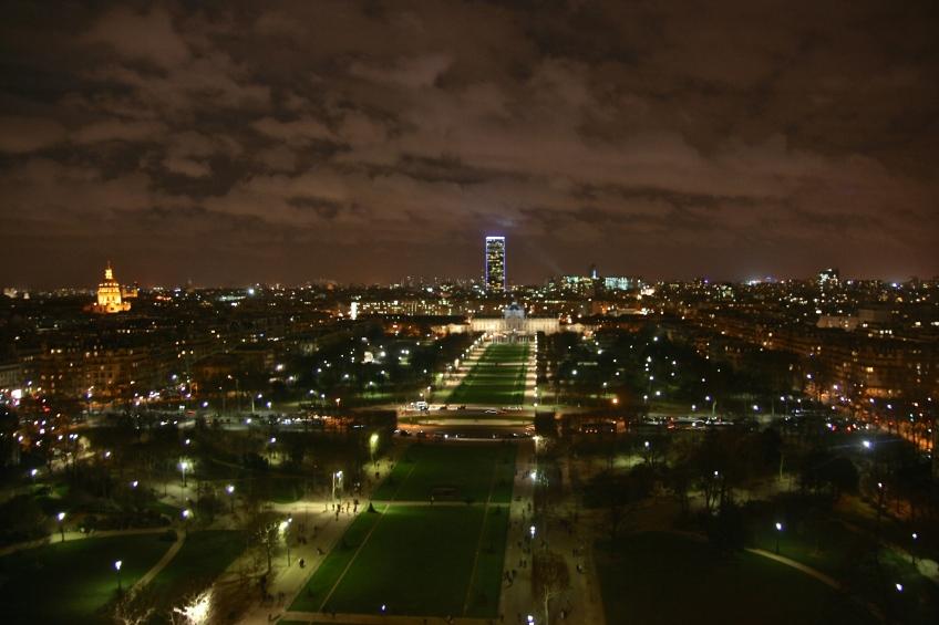 Paris View Night Eiffle Tower