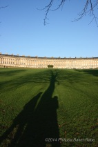 Shadows at the Royal Crescent Bath England