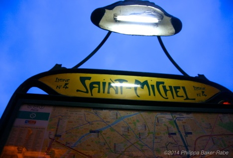 Paris Metro Saint Michel